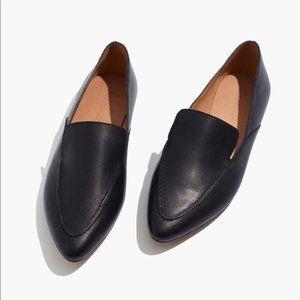 NIB Madewell Frances Skimmer Leather Loafer Black